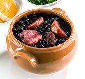 Feijoada,巴西传统膳食。 免版税库存照片