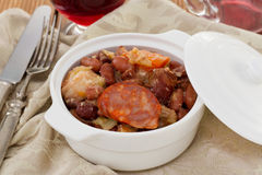 Feijoada in the  bowl Royalty Free Stock Photography