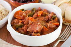 Feijoada in the bowl. Feijoada in the white bowl stock images