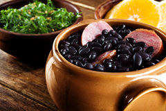 Feijoada, brasilianische traditionelle Mahlzeit. Lizenzfreies Stockbild