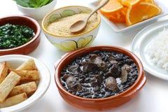 Feijoada, Braziliaanse keuken Royalty-vrije Stock Afbeeldingen