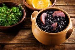 Feijoada, Braziliaanse traditionele maaltijd. Stock Foto
