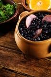 Feijoada, Braziliaanse traditionele maaltijd. royalty-vrije stock afbeelding