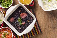 Feijoada. The Brazilian cuisine tradition royalty free stock photography