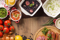 Feijoada. The Brazilian cuisine tradition stock photos
