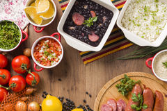 Feijoada. The Brazilian cuisine tradition stock photo