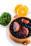 Feijoada, Brazilian traditional meal. Typical food of Brazil, made with black beans and pork Stock Photos