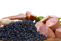 Feijoada Ingredients. On white background stock images