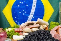 Feijoada Ingredients. Brazilian Feijoada raw fresh Ingredients royalty free stock images