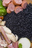 Feijoada Ingredients. Brazilian Feijoada raw fresh Ingredients royalty free stock images