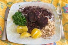 Feijoada, les haricots brésiliens Photo stock