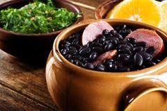 Feijoada, pasto tradizionale brasiliano. Immagine Stock Libera da Diritti