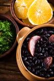 Feijoada, pasto tradizionale brasiliano. fotografia stock libera da diritti