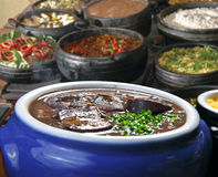 Feijoada on a restaurant. Brazilian feijoada on a restaurant stock photography