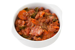 Feijoada in white bowl Royalty Free Stock Photography