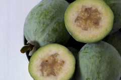 Feijoas in a Bucket from Above Stock Photos