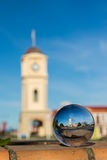 Feilding Town Clock Glass Ball Royalty Free Stock Images