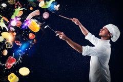 Feindweihnachtsmenü der musikalischen Harmonie des Lebensmittels Lizenzfreie Stockbilder
