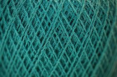 Feine Garn-Merinobeschaffenheit in Teal Color Macro Stockbilder