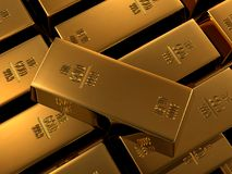 feine Goldstäbe Stockfotos