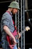 Feine Sahne Fischfillet on Nova Rock. NICKELSDORF-AUSTRIA, NOVA ROCK FESTIVAL 2015.06.12-14: Members of the rock group FEINES SAHNE FISCHFILLET live in concert stock images