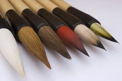 Feiner Malerpinsel auf weißem backg Lizenzfreie Stockfotos