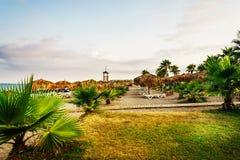 Feiner Strand in der Türkei Stockbilder