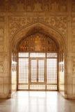 Feines Design in Diwan-i-Khas von Agra-Fort Lizenzfreie Stockfotos