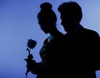 Feines Foto der Paare in der Liebe lizenzfreie stockbilder