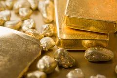 Feines Gold Stockfoto