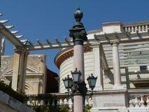 Feines Steindetail des Schlosshügelbezirkes in Budapest stockfoto