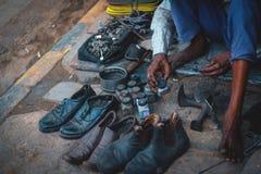 Feinkostgeschäft Indien stockbild