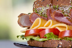 Feinkostgeschäftfleischsandwich mit Truthahn lizenzfreie stockfotos
