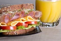 Feinkostgeschäftfleischsandwich mit Truthahn lizenzfreie stockbilder