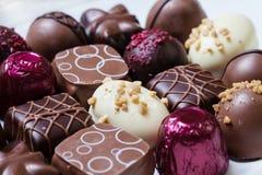 Feinschmeckerische Schokoladen Stockfotos