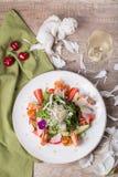 Feinschmeckerischer Salat, Draufsicht Stockfotos