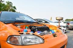 Feira automóvel das alterações no 4o aniversário de Flushstyle tailandês Imagem de Stock