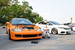 Feira automóvel das alterações no 4o aniversário de Flushstyle tailandês Fotos de Stock Royalty Free