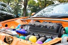 Feira automóvel das alterações no 4o aniversário de Flushstyle tailandês Fotos de Stock