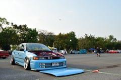 Feira automóvel das alterações no 4o aniversário de Flushstyle tailandês Fotografia de Stock
