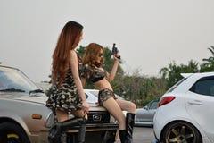 Feira automóvel das alterações no 4o aniversário de Flushstyle tailandês Imagem de Stock Royalty Free