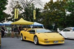 Feira automóvel das alterações no 4o aniversário de Flushstyle tailandês Fotografia de Stock Royalty Free