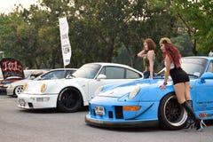 Feira automóvel das alterações no 4o aniversário de Flushstyle tailandês Foto de Stock Royalty Free