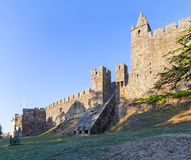 Feira Castle with the casemate bunker emerging from the walls. Stock Photography