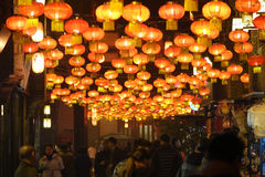Feira chinesa do templo do ano 2014 novo e festival de lanterna Fotos de Stock