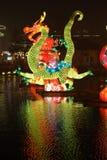 Feira chinesa do templo do ano 2014 novo e festival de lanterna Imagem de Stock Royalty Free