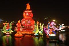 Feira chinesa do templo do ano 2014 novo e festival de lanterna Fotografia de Stock