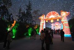 Feira chinesa do templo do ano 2014 novo e festival de lanterna Foto de Stock Royalty Free