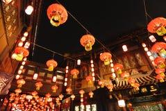 Feira chinesa do templo do ano 2014 novo e festival de lanterna Imagem de Stock