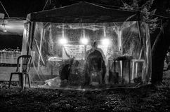 Feira da ladra após a chuva Fotos de Stock Royalty Free